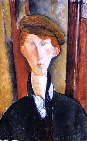 Amedeo Modigliani Young Man with Cap - Hand Painted Oil Painting