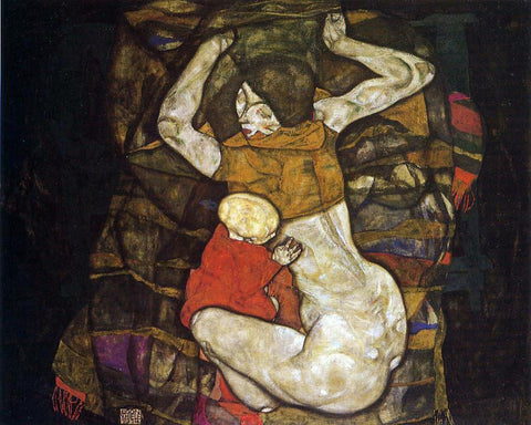 Egon Schiele Young Mother (also known as Blind Mother) - Hand Painted Oil Painting