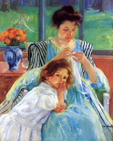 Mary Cassatt Young Mother - Hand Painted Oil Painting