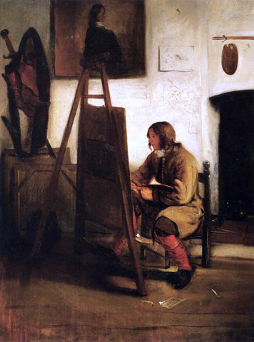 Barent Fabritius Young Painter in his Studio - Hand Painted Oil Painting