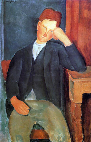 Amedeo Modigliani Young Peasant (also known as The Young Apprentice) - Hand Painted Oil Painting