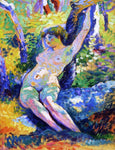 Henri Edmond Cross Young Woman (also known as Study for 'The Clearing) - Hand Painted Oil Painting