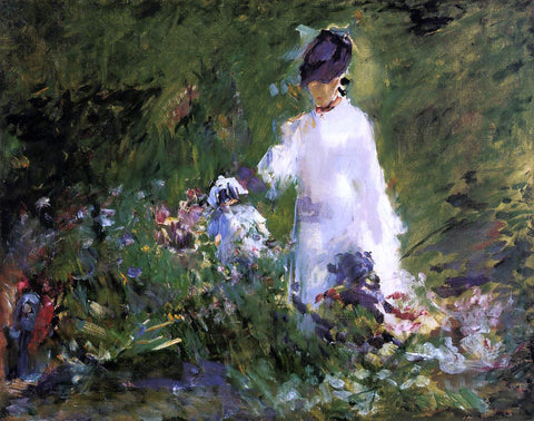 Edouard Manet Young Woman Among the Flowers - Hand Painted Oil Painting