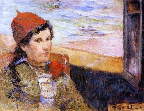 Paul Gauguin Young Woman at a Window - Hand Painted Oil Painting