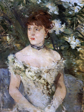Berthe Morisot Young Woman Dressed for the Ball - Hand Painted Oil Painting