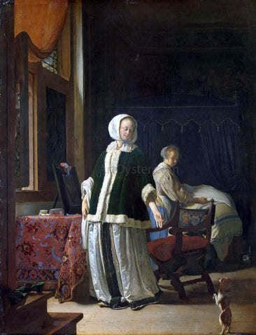 The Elder Frans Van  Mieris Young Woman in the Morning - Hand Painted Oil Painting