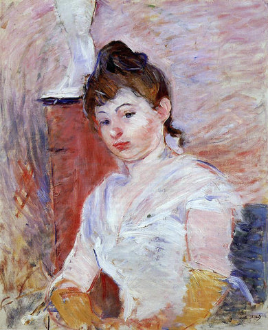 Berthe Morisot Young Woman in White - Hand Painted Oil Painting