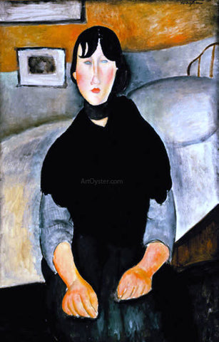 Amedeo Modigliani Young Woman of the People - Hand Painted Oil Painting