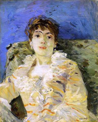 Berthe Morisot Young Woman on a Couch - Hand Painted Oil Painting