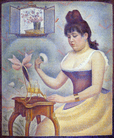 Georges Seurat Young Woman Powdering Herself - Hand Painted Oil Painting