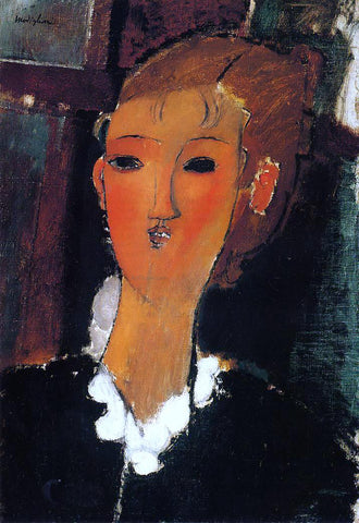 Amedeo Modigliani Young Woman with a Small Ruff - Hand Painted Oil Painting