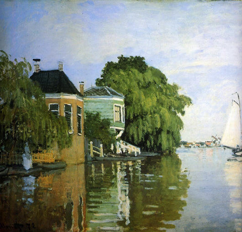 Claude Oscar Monet Zaandam (detail) - Hand Painted Oil Painting