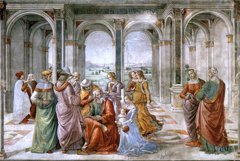 Domenico Ghirlandaio Zacharias Writes Down the Name of his Son - Hand Painted Oil Painting