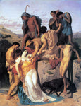 William Adolphe Bouguereau Zenobia found by shepherds on the banks of the Araxes - Hand Painted Oil Painting