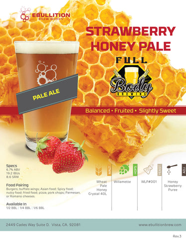 Strawberry Honey Pale Ale