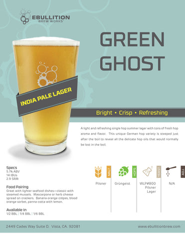 Green Ghost - Dry-Hopped Lager Crowler
