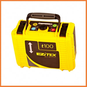Yellow GeoMax Signal Transmitter EZiTEX t100 used for tracing cables and pipes