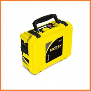 Yellow and black GeoMax Signal Transmitter EZiTEX t300 used for tracing cables and pipes over large distances