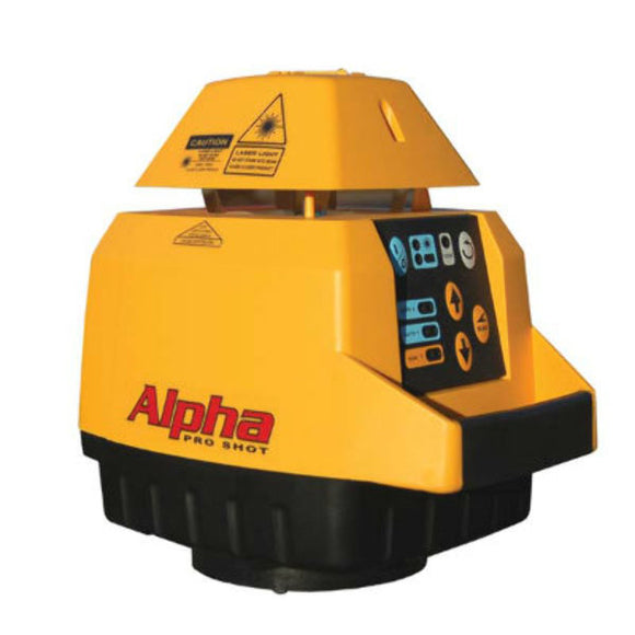 Yellow and black Proshot Alpha used for carparks, driveways and drainage