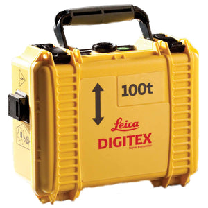 Yellow Leica Digitex box with a black handle