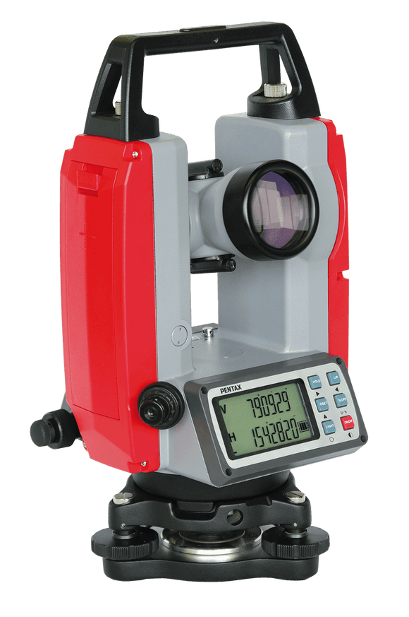Red and Grey Pentax ETH-510 Digital Laser Theodolite for levelling