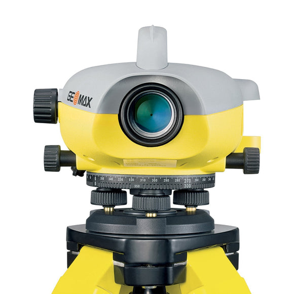 Yellow and Grey GeoMax ZDL700 used for levelling