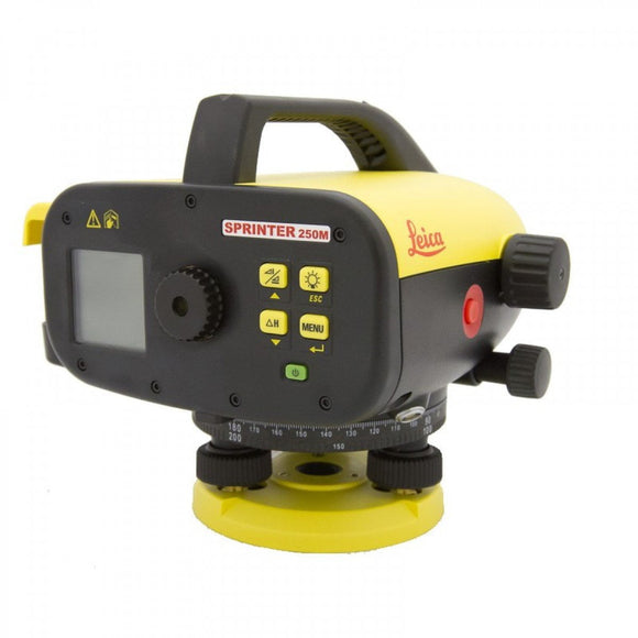 Black and Yellow Leica Sprinter 250M used to increase workflow and reduce jobsite errors