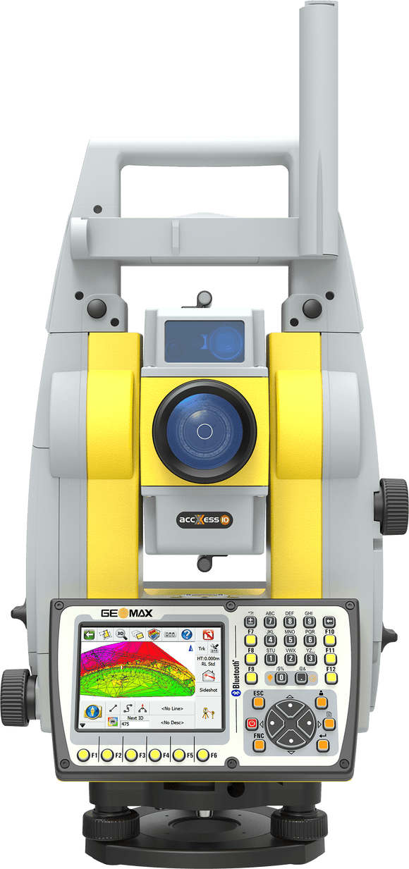 Grey and Yellow GeoMax Zoom90 with screen