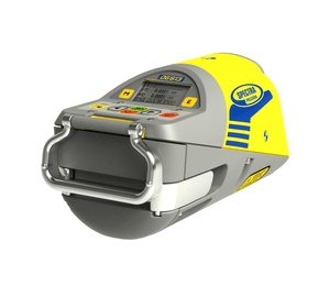 Yellow and Grey Spectra DG613 Pipe Laser used for tight inverts in a manhole