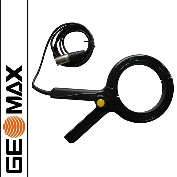 Black GeoMax Ezi clamp used with the Ezi transmitter t100 and t300