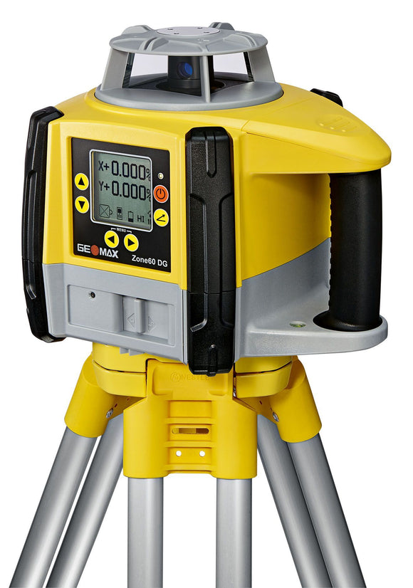 Yellow and black GeoMax Zone60 DG used for grading applications