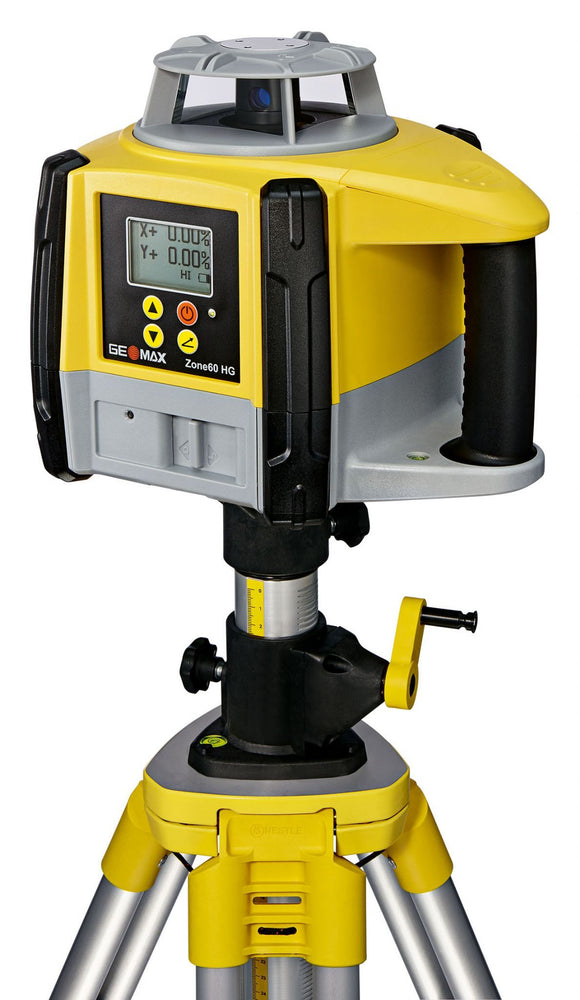 Yellow and black GeoMax Zone60 HG with highly precise grading