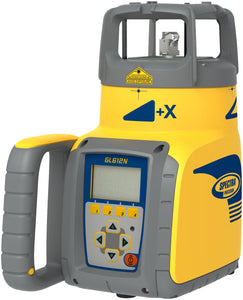 Yellow and blue Spectra GL612N with vertical self-levelling