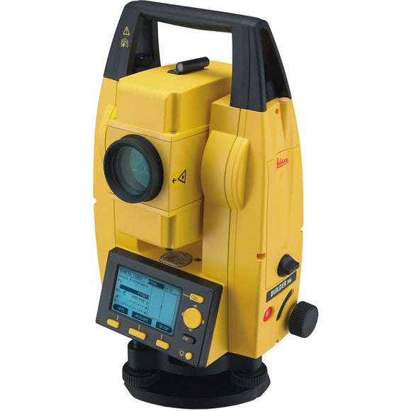 Yellow and Black Leica Builder 309 Total Station used for measuring