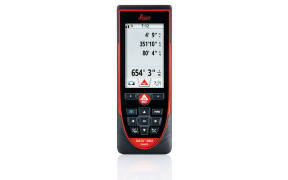 Red and black DISTO D810 Touch with a touch screen interface