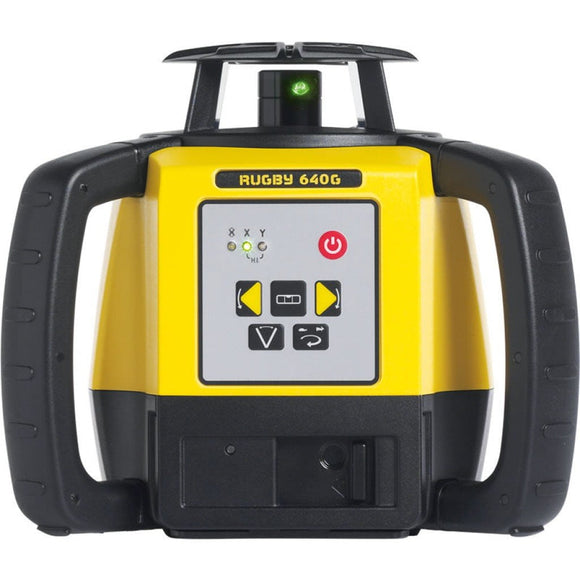 Yellow and Black Leica Rugby 640G rotating laser