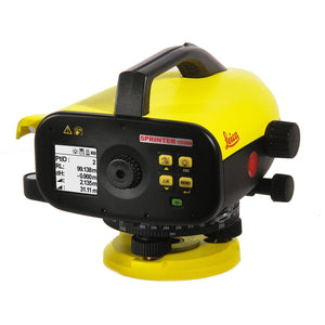 Black and Yellow Leica Sprinter 150M used to calculate heights and for tracking and monitoring
