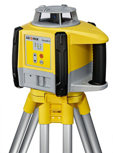 Yellow and black GeoMax Zone20 H used for levelling and grading