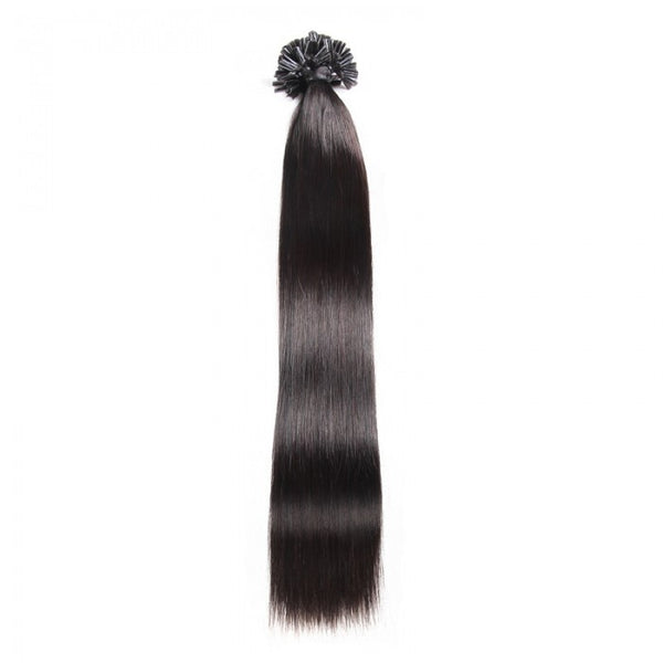 100s 0.5g/s Straight Nail/U Tip Virgin Hair Extensions #1 #1B #2 #4 #12