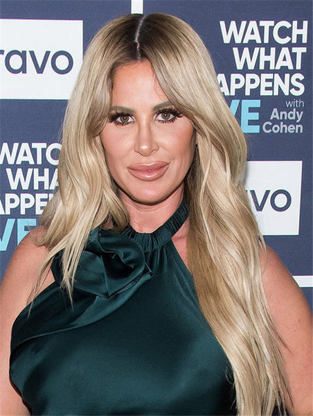 Without Bangs Synthetic Blonde Capless Kim Zolciak Wigs