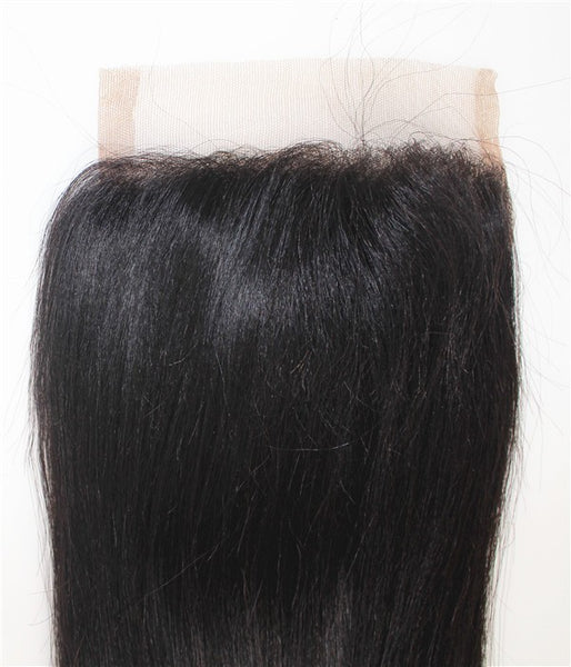 "6""x6"" Natural Straight Remy Human Hair Lace Hair Topper"