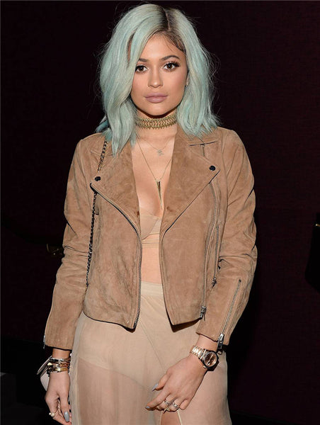 Without Bangs Remy Human Hair Grey Lace Front Kylie Jenner Wigs