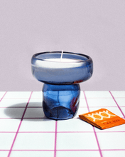Load image into Gallery viewer, Blue Candle & Incense holder