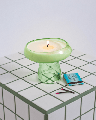 Light Green Candle & Incense holders