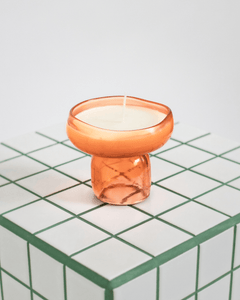 Orange Candle & Incense holder