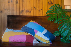 Pillars Pillowcase (Light Blue)