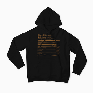 Black Educator Nutrition Facts Hoodie