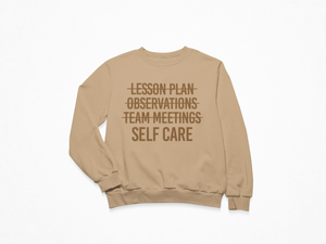 Self Care First Toffee Crewneck