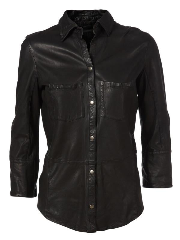Kirsty Leather Shirt