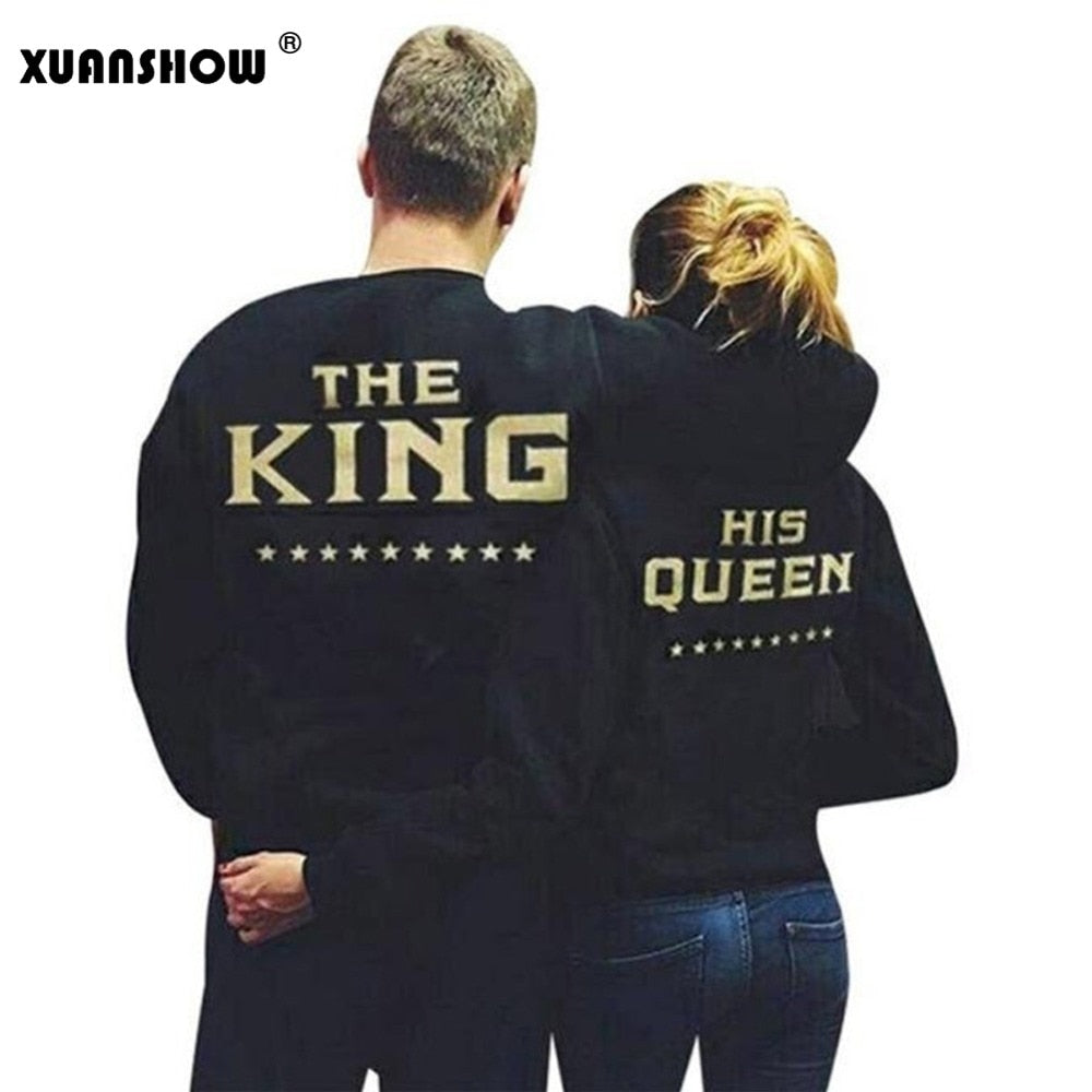 3ffd4f89448 QUEEN   KING Couple Hoodies Sweatshirts – FireTrendy